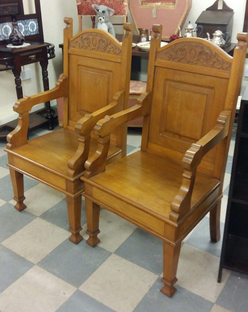 Church Chairs - Church Chairs - Ammanford Antiques Centre